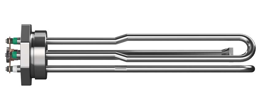 Tubular element in stainless steel with stainless steel plug