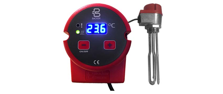Immersion heater with termostat