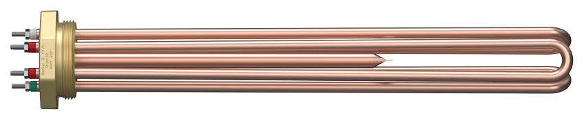Tubular elements in copper